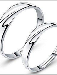 cheap -925 Couples' Silver Wedding Rings (2 pcs) Classical Feminine Style