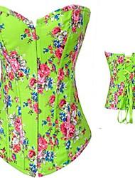 baratos -Mulheres De amarrar Corpetes - Floral/Botânico