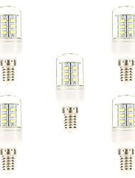 Недорогие -5 шт. 3 Вт. 450 lm E14 LED лампы типа Корн 24 светодиоды SMD 5730 Естественный белый AC 220-240V