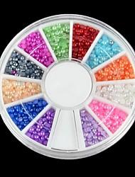 Недорогие -600pcs цвет 12 с половиной жемчуг украшения искусства ногтя
