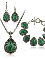 cheap -Peacock Jewelry Set Earrings / Necklace / Bracelets & Bangles - Peacock Jewelry Set For Wedding / Party / Daily