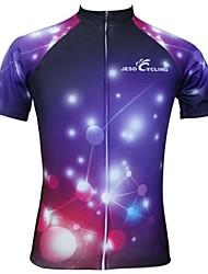 levne -JESOCYCLING Cyklodres Dámské Krátký rukáv Jezdit na kole Dres Vrchní část oděvu Cyklistické oblečení Rychleschnoucí Prodyšné Módní