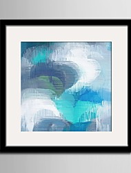 baratos -Fantasia Quadros Emoldurados / Conjunto Emoldurado Wall Art,PVC Preto Cartolina de Passepartout Incluída com frame Wall Art