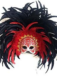 Недорогие -фантазия половина лица карнавал Венецианские маски с павлиньими перьями