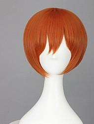 Parrucche Cosplay Cosplay Rin Hoshizora Arancione Corto Anime Parrucche Cosplay 35 CM Tessuno resistente a calore Donna