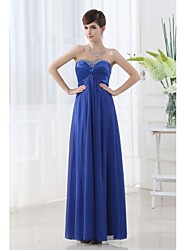cheap -A-Line Sweetheart Neckline Floor Length Chiffon Bridesmaid Dress with Beading / Criss Cross by