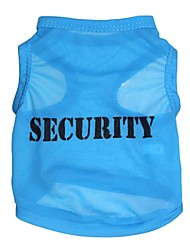 cheap -Cat Dog Shirt / T-Shirt Dog Clothes Letter & Number Blue Terylene Costume For Pets