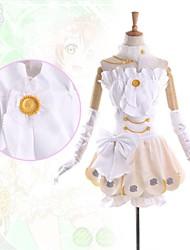 billiga -Inspirerad av Love Live Rin Hoshizora Animé Cosplay-kostymer cosplay Suits Lappverk Ärmlös Klänning Krage Armband Handskar Shorts Till