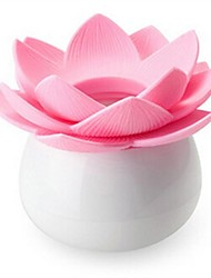 Lotus Shape Plastic Toothpick Box Random Color