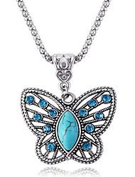 ieftine -Dame Coliere cu Pandativ Safir Animal Shape Fluture Piatră Preţioasă Diamante Artificiale Aliaj La modă bijuterii de lux Bijuterii Pentru