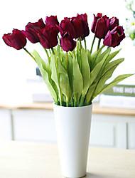3 PCS Pu Tulip Artificial Flowers Home Decoration Wedding Supply