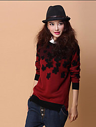 Women's Korean Loose Round Collar Pullover Bottoming Knitwear Sweater