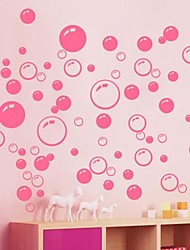 Wall Stickers Wall Decals, Cute Colorful PVC Removable the Beauty Pink Bubble Wall Stickers.