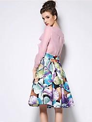 povoljno -Žene Širok kroj A kroj Classic & Timeless Ulični šik Suknje - Više boja Reactive Print