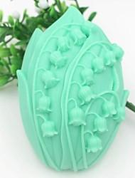blomst formet fondant kage chokolade silicone skimmel kage dekoration værktøjer, l9.5cm * w7cm * h3.3cm