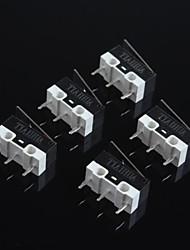 cheap -Mouse Micro Switch 1A 125V Ultra Small, High Quality Silver Contacts Mouse Micro Switch(5Pcs)