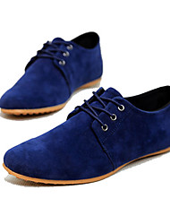 cheap -Men's Shoes Faux Suede Spring Summer Fall Comfort Oxfords Lace-up For Casual Navy Black Brown