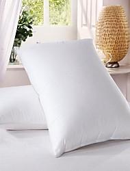 100% algodão branco penas de pato para baixo da cama travesseiro