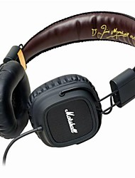 MARSHALL MAJOR On Ear Headband Wired Headphones Dynamic Plastic Mobile Phone Earphone Noise-isolating with Microphone with Volume Control