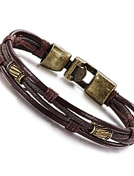 cheap -Men's Wrap Bracelet Leather Bracelet Personalized Vintage Hip-Hop Leather Copper Titanium Steel Jewelry Daily Casual Sports