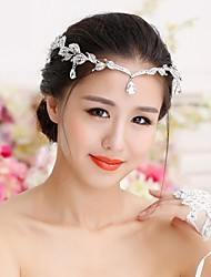 cheap -Rhinestone Alloy Tiaras Hats Head Chain Headpiece Elegant Style