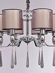 cheap -6-Light Candle-style Chandelier Uplight - Crystal, 110-120V / 220-240V Bulb Not Included / 30-40㎡ / E26 / E27