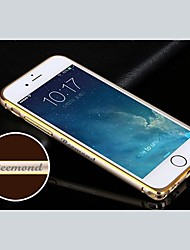 Personalized Engraved Exquisite Gold-Laced Metal Bumper Frame Shell for 4.7 Inch iPhone 6 (Gold,Silver, Black, Pink)