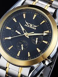 baratos -Homens relógio mecânico Calendário Aço Inoxidável Banda Amuleto Prata / Automático - da corda automáticamente
