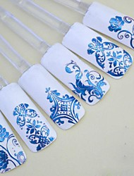 cheap -1x 108 PCS  3D Blue Flower  Nail Art Stickers