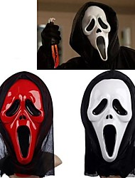 Недорогие -белый&красная маска призрак с крышки головки кричать злую шутку страшно косплей гаджеты Хэллоуин Карнавальные (ассорти цветов)