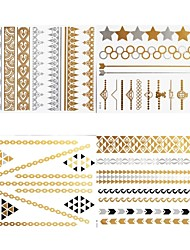 cheap -8 Pcs All Different Patterns Long Bracelet/Necklace Tattoo Sticker(Random Patterns)23x15.5CM