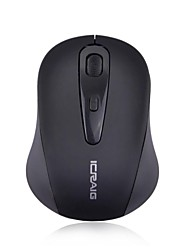 icraig 800 / 1600dpi 2.4ghz mouse wireless con ricevitore USB nano per il pc desktop / laptop / notebook (nero)
