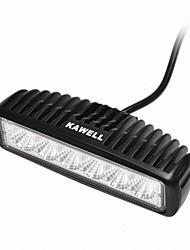 "kawell 18w 6.2 ""привело к ATV / лодки / SUV / грузовиков / автомобиль / квадроциклы свет от дороги водонепроницаемый привело работа прожектор бар"