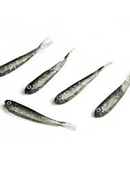 """5 pc Esche morbide Esca Esche morbide Trasparente g/Oncia,70 mm/2-3/4"""" pollice,SiliconePesca di mare Pesca a mulinello Pesca"""