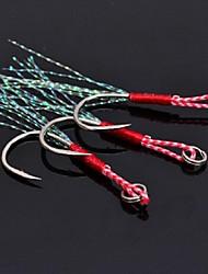 economico -Ami da pesca Per la pesca-6 pc Argento Acciaio al carbonio Pesca di mare