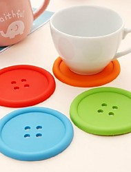 cheap -1 Pc Silicone Confectionery Button Cup Mat With A Single Round Heat Insulation Pad