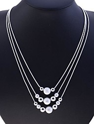 cheap -Women's Strands Necklace  -  Sterling Silver, Silver Snake Fashion Silver Necklace For Party, Daily, Casual