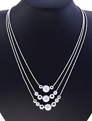 abordables -Mujer Collar de hebras - Plata de ley, Plata Serpiente Moda Plata Gargantillas Para Fiesta, Diario, Casual