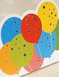 Pli Parallèle Vertical Invitations de mariage 1-Cartes d'anniversaire Style artistique Papier durci