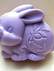 cheap -Easter Rabbit Fondant Cake Chocolate Silicone Mold Cake Decoration Tools,L9.6cm*W7.6cm*H3.8cm