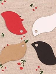50pcs foglia carta kraft cartellini lables per il regalo preferito imballaggio panificio nozze carte prezzi partito (più colori)