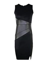 Vestidos ( Mistura de Algodão ) MULHERES - Casual Médio