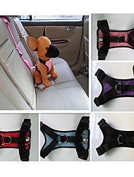Cat / Dog Harness / Car Seat Harness/Safety Harness Waterproof Red / Black / Blue / Pink / Purple Nylon