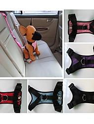 baratos -Gato Cachorro Arreios Cinto de Segurança para Cães / Cinto de segurança Prova-de-Água Náilon Preto Roxo Vermelho Azul Rosa claro