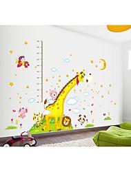 decalques de parede adesivos de parede, estilo super-girafa medir sua parede do hight pvc adesivos