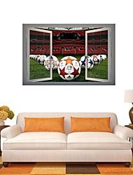 3d wall stickers Vægoverføringsbilleder, fodbold spil indretning vinyl wall stickers