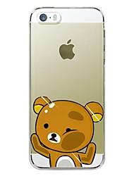 billige -Etui Til Apple iPhone X iPhone 8 Plus iPhone 5 etui iPhone 6 iPhone 6 Plus iPhone 7 Plus iPhone 7 Transparent Mønster Bagcover Tegneserie