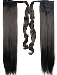 Excellent Quality Synthetic 24 Inch Long Clip In Ponytail Straight Hair Piece