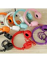 economico -stile y501 over ear cuffia bassa pieghevole con il microfono per i telefoni (colori assortiti)