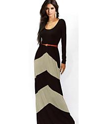 Leto elegantne ženske kontrast boja opremljena haljina